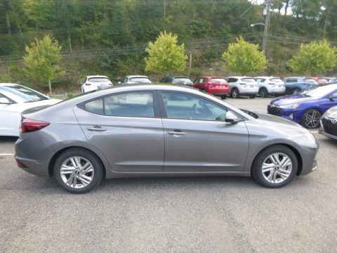 Machine Gray Hyundai Elantra Value Edition.  Click to enlarge.