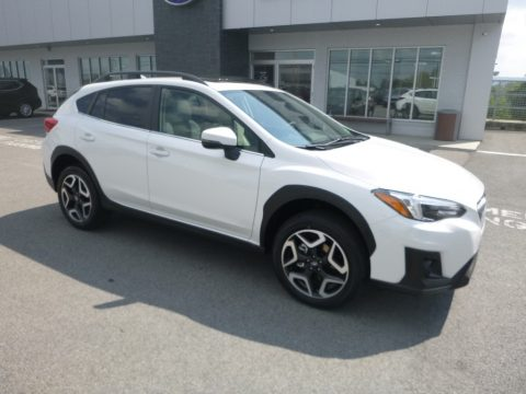 Crystal White Pearl Subaru Crosstrek 2.0i Limited.  Click to enlarge.