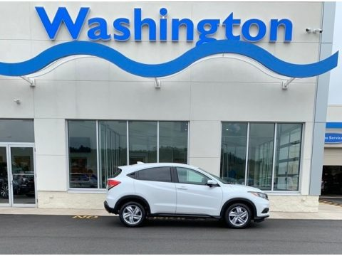 Platinum White Pearl Honda HR-V EX AWD.  Click to enlarge.