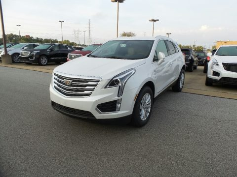 Crystal White Tricoat Cadillac XT5 .  Click to enlarge.