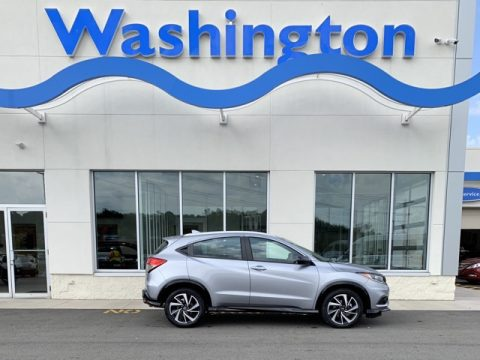 Lunar Silver Metallic Honda HR-V Sport AWD.  Click to enlarge.