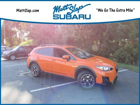 Sunshine Orange Subaru Crosstrek 2.0i Premium.  Click to enlarge.