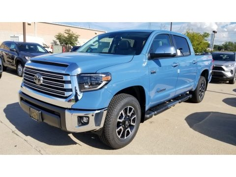 Cavalry Blue Toyota Tundra Limited CrewMax 4x4.  Click to enlarge.