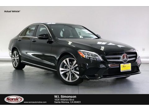 Black Mercedes-Benz C 300 Sedan.  Click to enlarge.