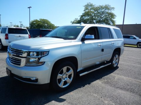 Silver Ice Metallic Chevrolet Tahoe Premier 4WD.  Click to enlarge.