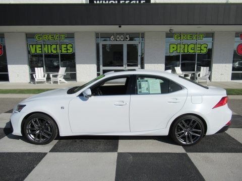 Eminent White Pearl Lexus IS 300 F Sport.  Click to enlarge.