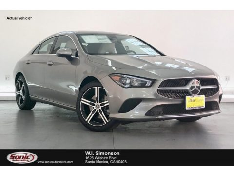 Mojave Silver Metallic Mercedes-Benz CLA 250 Coupe.  Click to enlarge.