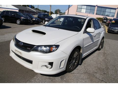 Satin White Pearl Subaru Impreza WRX Sedan.  Click to enlarge.