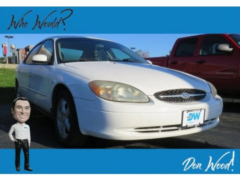 Vibrant White Ford Taurus SES.  Click to enlarge.