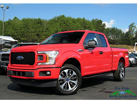 Race Red Ford F150 STX SuperCab 4x4.  Click to enlarge.