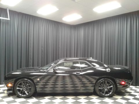 Pitch Black Dodge Challenger R/T Scat Pack.  Click to enlarge.