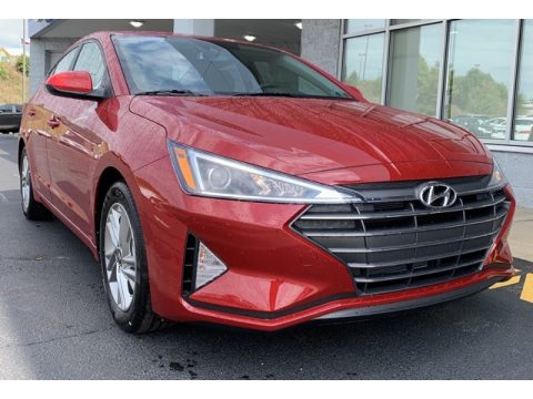 Scarlet Red Pearl Hyundai Elantra Value Edition.  Click to enlarge.