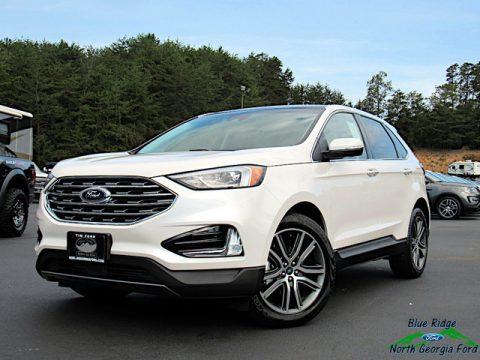 White Platinum Ford Edge Titanium.  Click to enlarge.