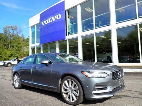 Osmium Grey Metallic Volvo S90 T8 AWD Inscription Hybrid.  Click to enlarge.