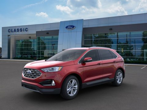 Ruby Red Ford Edge SEL AWD.  Click to enlarge.
