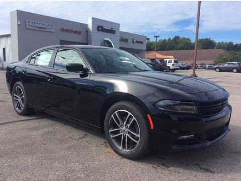Pitch Black Dodge Charger SXT AWD.  Click to enlarge.