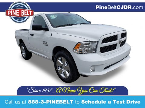 Bright White Ram 1500 Classic Express Regular Cab 4x4.  Click to enlarge.