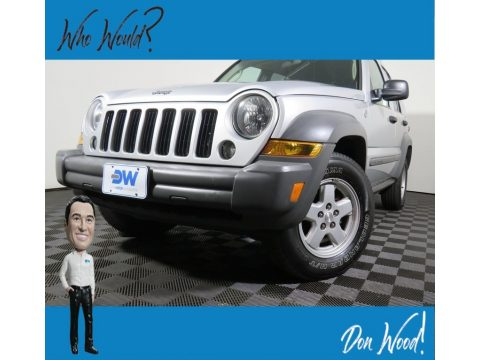 Bright Silver Metallic Jeep Liberty Sport 4x4.  Click to enlarge.