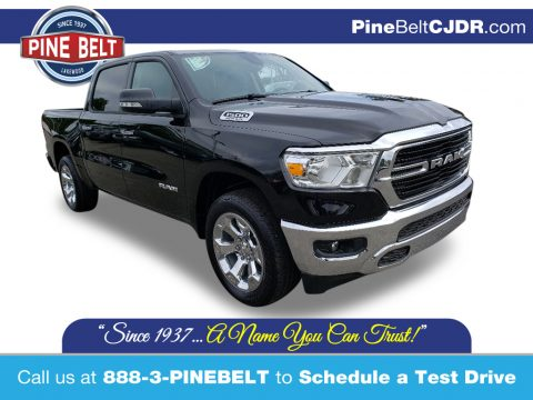 Diamond Black Crystal Pearl Ram 1500 Big Horn Crew Cab 4x4.  Click to enlarge.