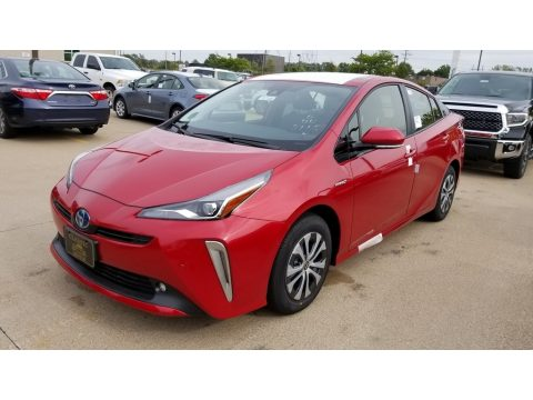 Supersonic Red Toyota Prius XLE AWD-e.  Click to enlarge.