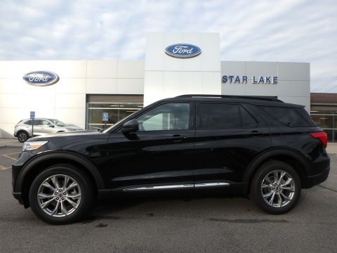 Agate Black Metallic Ford Explorer XLT 4WD.  Click to enlarge.