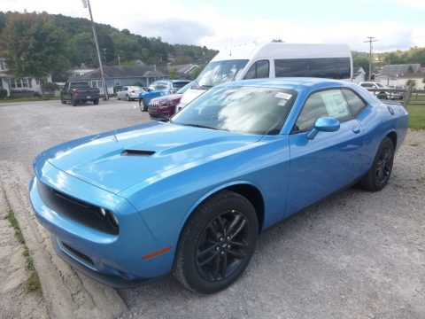 B5 Blue Pearl Dodge Challenger SXT AWD.  Click to enlarge.