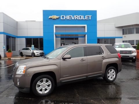 Mocha Steel Metallic GMC Terrain SLE AWD.  Click to enlarge.