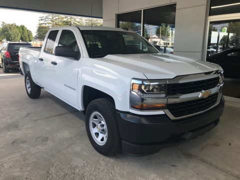 Summit White Chevrolet Silverado LD WT Double Cab.  Click to enlarge.