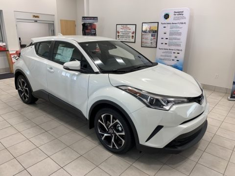 Blizzard White Pearl Toyota C-HR XLE.  Click to enlarge.
