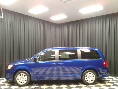 Indigo Blue Dodge Grand Caravan SE.  Click to enlarge.