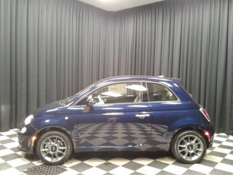 Mezzanotte Blue Pearl Fiat 500 Pop.  Click to enlarge.