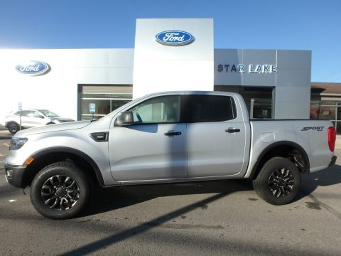 Ingot Silver Metallic Ford Ranger XLT SuperCrew 4x4.  Click to enlarge.