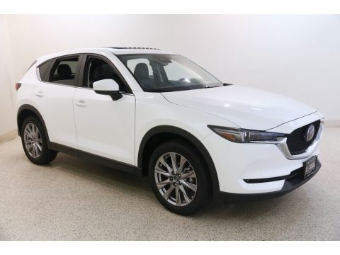 Snowflake White Pearl Mica Mazda CX-5 Grand Touring AWD.  Click to enlarge.