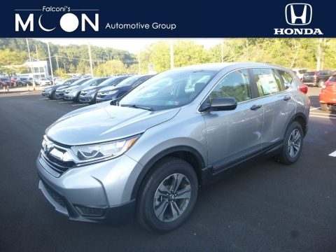 Lunar Silver Metallic Honda CR-V LX AWD.  Click to enlarge.
