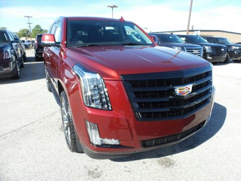 Red Passion Tintcoat Cadillac Escalade Luxury 4WD.  Click to enlarge.