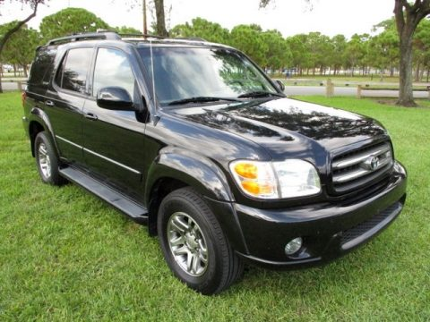 Black Toyota Sequoia Limited 4WD.  Click to enlarge.