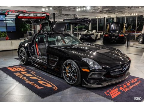 Obsidian Black Metallic Mercedes-Benz SLS AMG GT Coupe Black Series.  Click to enlarge.