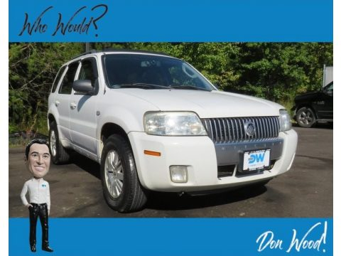 Oxford White Mercury Mariner Luxury 4WD.  Click to enlarge.