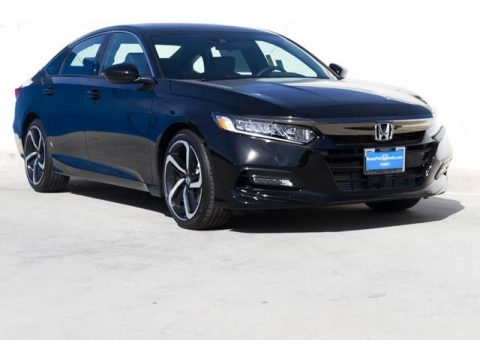 Crystal Black Pearl Honda Accord Sport Sedan.  Click to enlarge.