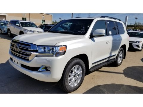 Blizzard White Pearl Toyota Land Cruiser 4WD.  Click to enlarge.