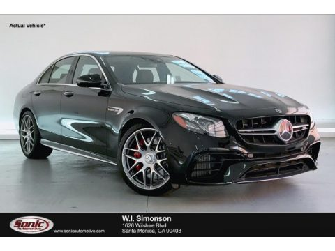 Obsidian Black Metallic Mercedes-Benz E AMG 63 S 4Matic Sedan.  Click to enlarge.