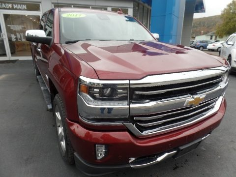 Siren Red Tintcoat Chevrolet Silverado 1500 High Country Crew Cab 4x4.  Click to enlarge.