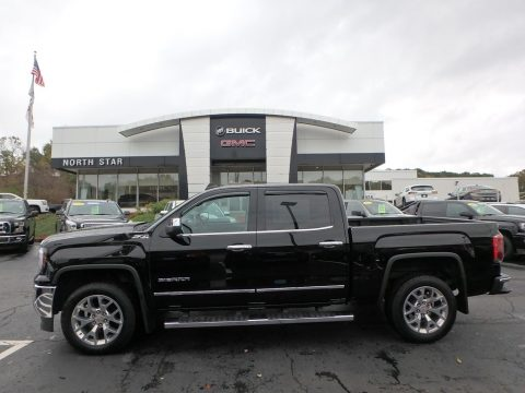 Onyx Black GMC Sierra 1500 SLT Crew Cab 4WD.  Click to enlarge.