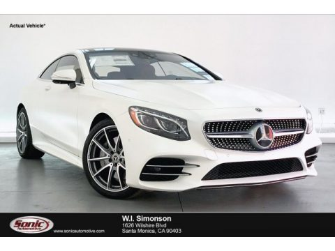 designo Cashmere White (Matte) Mercedes-Benz S 560 4Matic Coupe.  Click to enlarge.