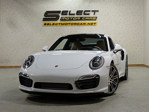 White Porsche 911 Turbo S Coupe.  Click to enlarge.