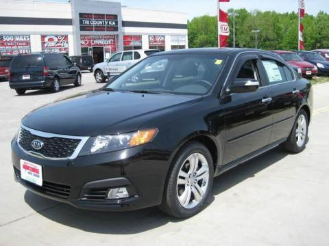 Ebony Black 2009 Kia Optima SX V6 with Black interior Ebony Black Kia Optima