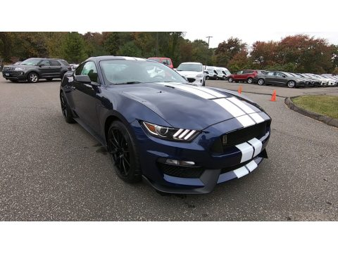 Kona Blue Ford Mustang Shelby GT350.  Click to enlarge.