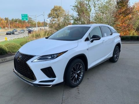 Ultra White Lexus RX 350 F Sport AWD.  Click to enlarge.
