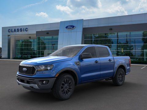 Lightning Blue Metallic Ford Ranger XLT SuperCrew 4x4.  Click to enlarge.
