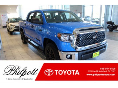 Voodoo Blue Toyota Tundra TSS Off Road CrewMax 4x4.  Click to enlarge.